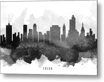 Tulsa Cityscape 11 Metal Print by Aged Pixel