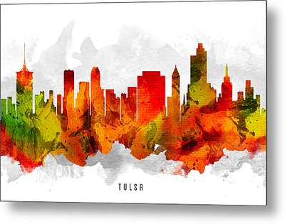 Tulsa Oklahoma Cityscape 15 Metal Print by Aged Pixel