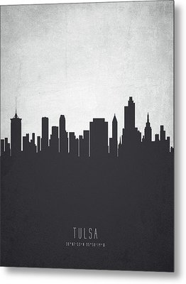 Tulsa Oklahoma Cityscape 19 Metal Print by Aged Pixel