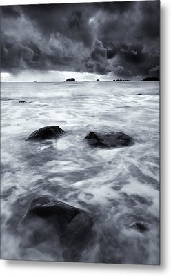Turbulent Seas Metal Print by Mike  Dawson