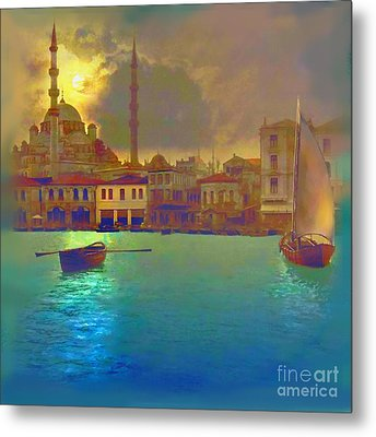 Turkish  Moonlight Metal Print by Saiyyidah Seema  Z
