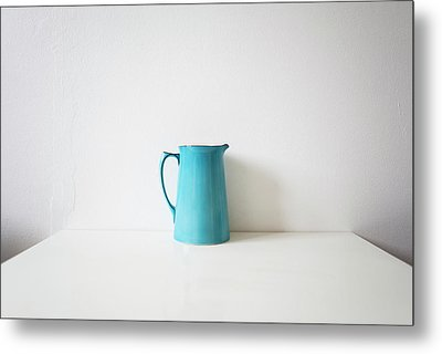 Turquoise Jug Metal Print by Mary Gaudin