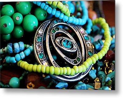 Turquoise Playthings Metal Print by Susan Vineyard