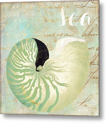 Turquoise Sea Metal Print by Mindy Sommers