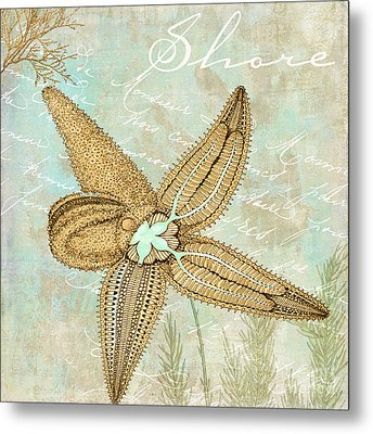 Turquoise Sea Starfish Metal Print by Mindy Sommers