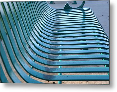Turquoise Wave Metal Print by Jan Amiss Photography