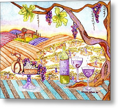 Tuscan Living In Style Metal Print by Connie Valasco