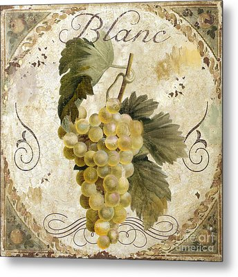 Tuscan Table Blanc Wine Metal Print by Mindy Sommers