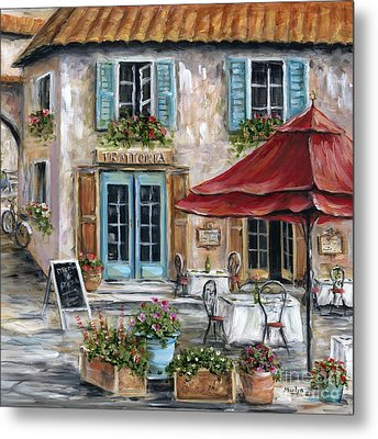 Tuscan Trattoria Square Metal Print by Marilyn Dunlap