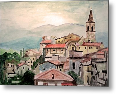 Tuscany Landscape Metal Print by Jim Phillips