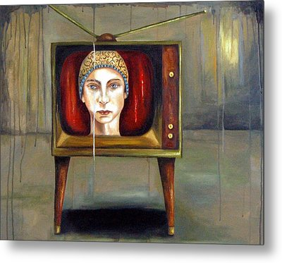 Tv Series 1 Metal Print by Leah Saulnier The Painting Maniac