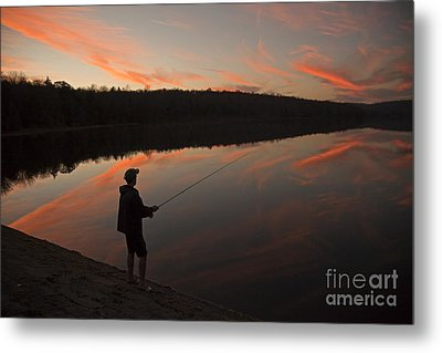 Twilight Fishing Delight Metal Print by John Stephens