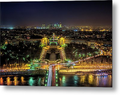 Twilight From The Eiffel Tower Metal Print by Andrew Soundarajan