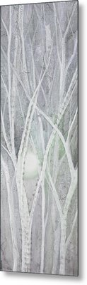 Twilight In Gray II Metal Print by Shadia Zayed