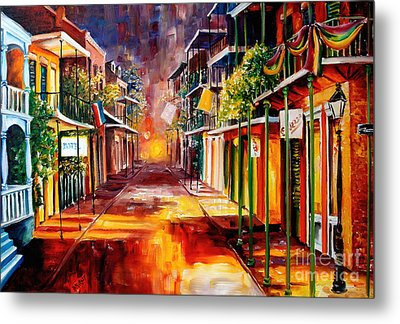Twilight In New Orleans Metal Print by Diane Millsap
