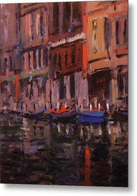 Twilight On The Canal Metal Print by R W Goetting