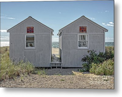 Twin Beach Cottages Cape Cod Metal Print by Edward Fielding