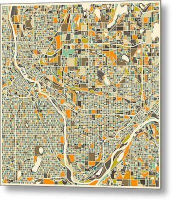 Twin Cities Metal Print by Jazzberry Blue