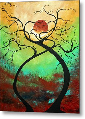 Twisting Love II Original Painting By Madart Metal Print by Megan Duncanson