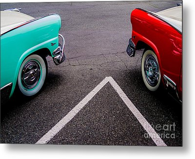 Metal Print featuring the photograph Two 1958 Ford Crown Victorias by M G Whittingham