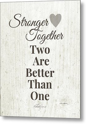 Two Are Better Than One- Art By Linda Woods Metal Print by Linda Woods