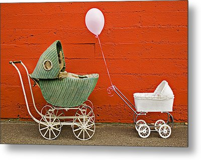 Two Baby Buggies  Metal Print by Garry Gay