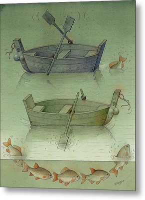 Two Boats Metal Print by Kestutis Kasparavicius