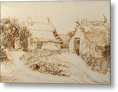 Two Cottages At Saintes Maries De La Mer Metal Print by Vincent van Gogh