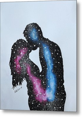 Two Galaxies In One Universe Metal Print by Edwin Alverio