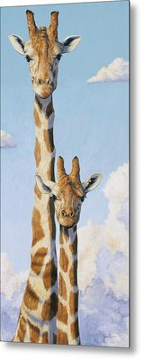 Two Heads In The Clouds Metal Print by Lucie Bilodeau