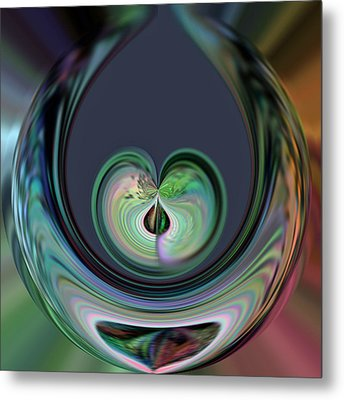 Two Hearts Beat As One Metal Print by Rick Nickles