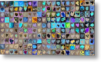 Two Hundred And One Hearts Metal Print by Boy Sees Hearts