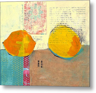 Two Lemons Metal Print by Laurie Breen