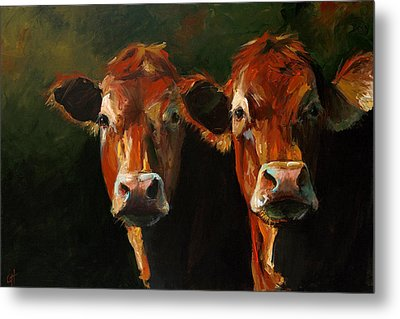 Two Limousins Metal Print by Cari Humphry