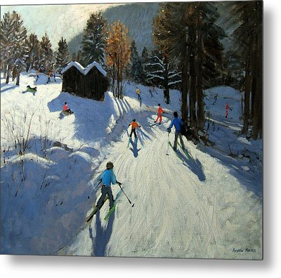 Two Mountain Huts Metal Print by Andrew Macara