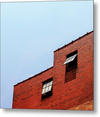 Two Open Windows- Nashville Photography By Linda Woods Metal Print by Linda Woods