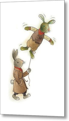 Two Rabbits 02 Metal Print by Kestutis Kasparavicius
