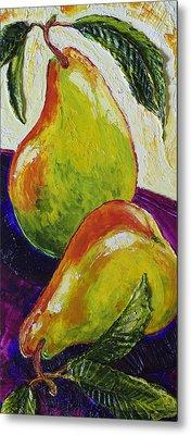 Two Ripe Pears Metal Print by Paris Wyatt Llanso
