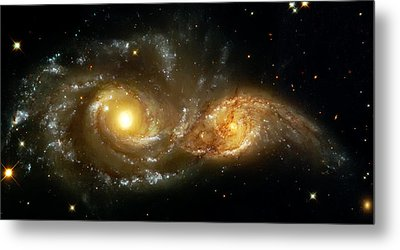 Two Spiral Galaxies Metal Print by The  Vault - Jennifer Rondinelli Reilly