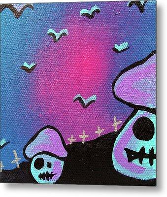 Two Zombie Mushrooms Metal Print by Jera Sky