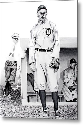 Ty Cobb Metal Print by Ferrel Cordle