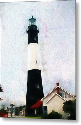 Tybee Lighthouse - Coastal Metal Print by Barry Jones