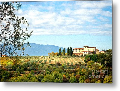 Typical Tuscan Hill Metal Print by Antonio Gravante