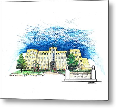 Ualr William H. Bowen School Of Law Metal Print by Yang Luo-Branch