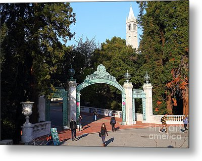 Uc Berkeley . Sproul Plaza . Sather Gate And Sather Tower Campanile . 7d10025 Metal Print by Wingsdomain Art and Photography