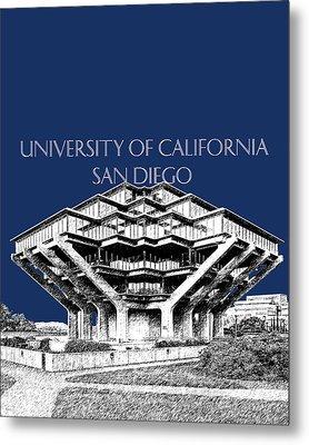 Uc San Diego Navy Blue Metal Print by DB Artist