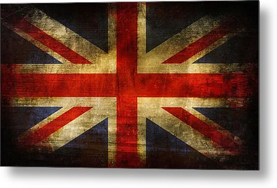 Uk Flag Metal Print by Brett Pfister