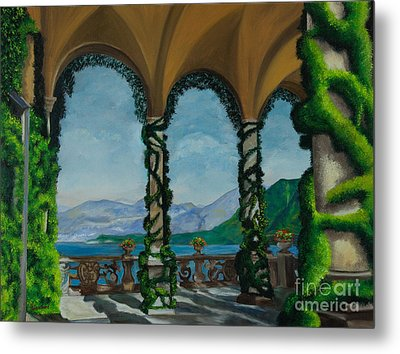 Under The Arches At Villa Balvianella Metal Print by Charlotte Blanchard