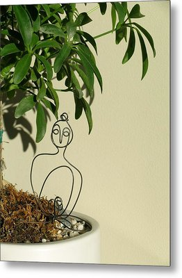 Under The Bodhi Tree Metal Print by Live Wire Spirit