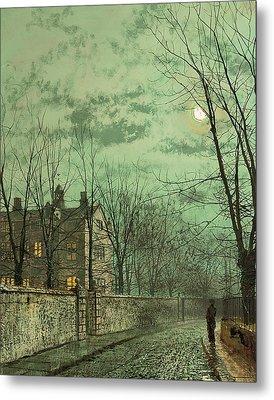 Under The Moonbeams Metal Print by John Atkinson Grimshaw